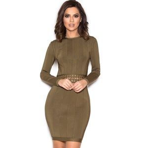 House of CB Shula dress khaki